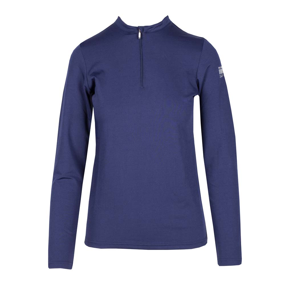 Mondoni Active lange mouw kinder trainingsshirt donkerblauw maat:140