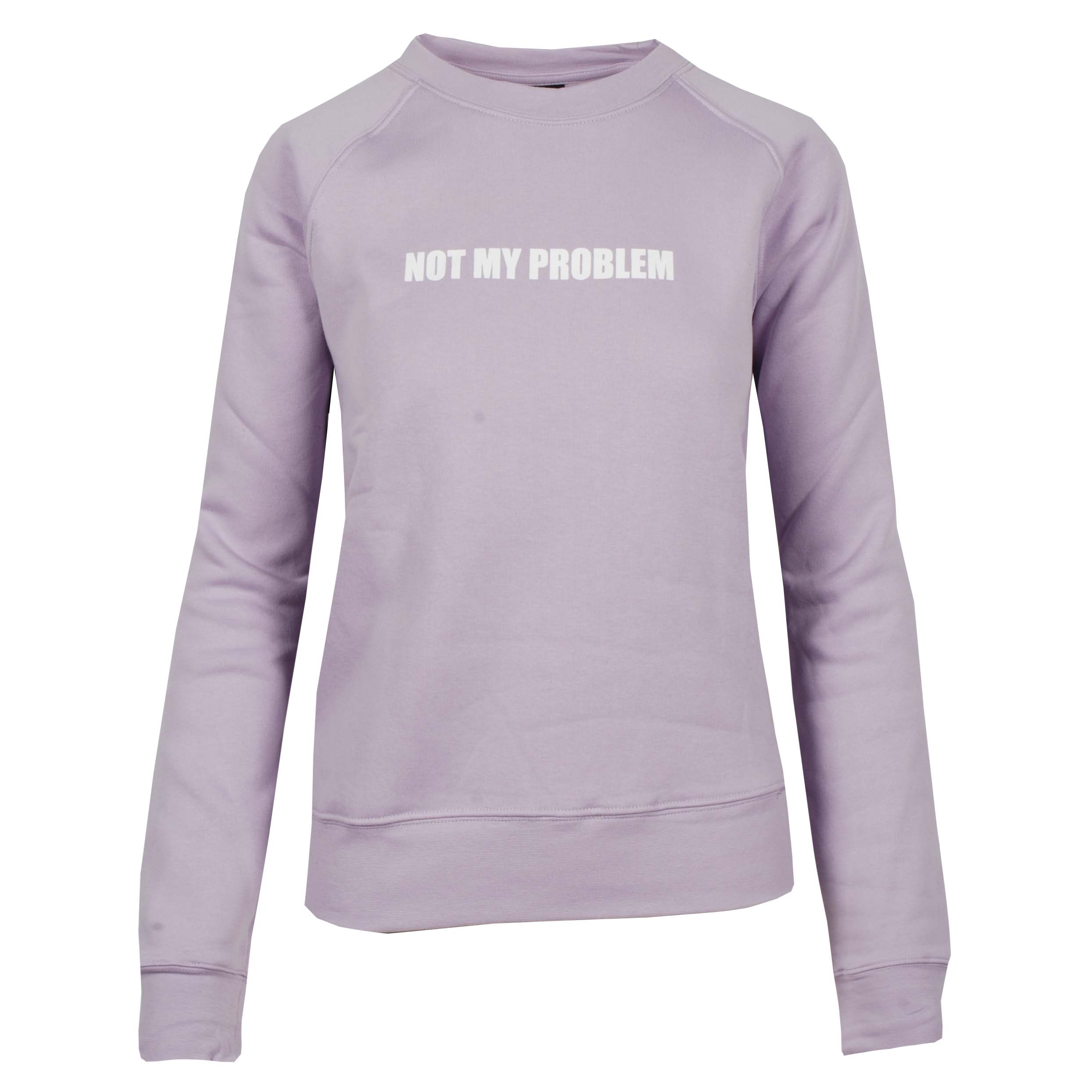 Mondoni Not my problem sweater lila maat:xxs