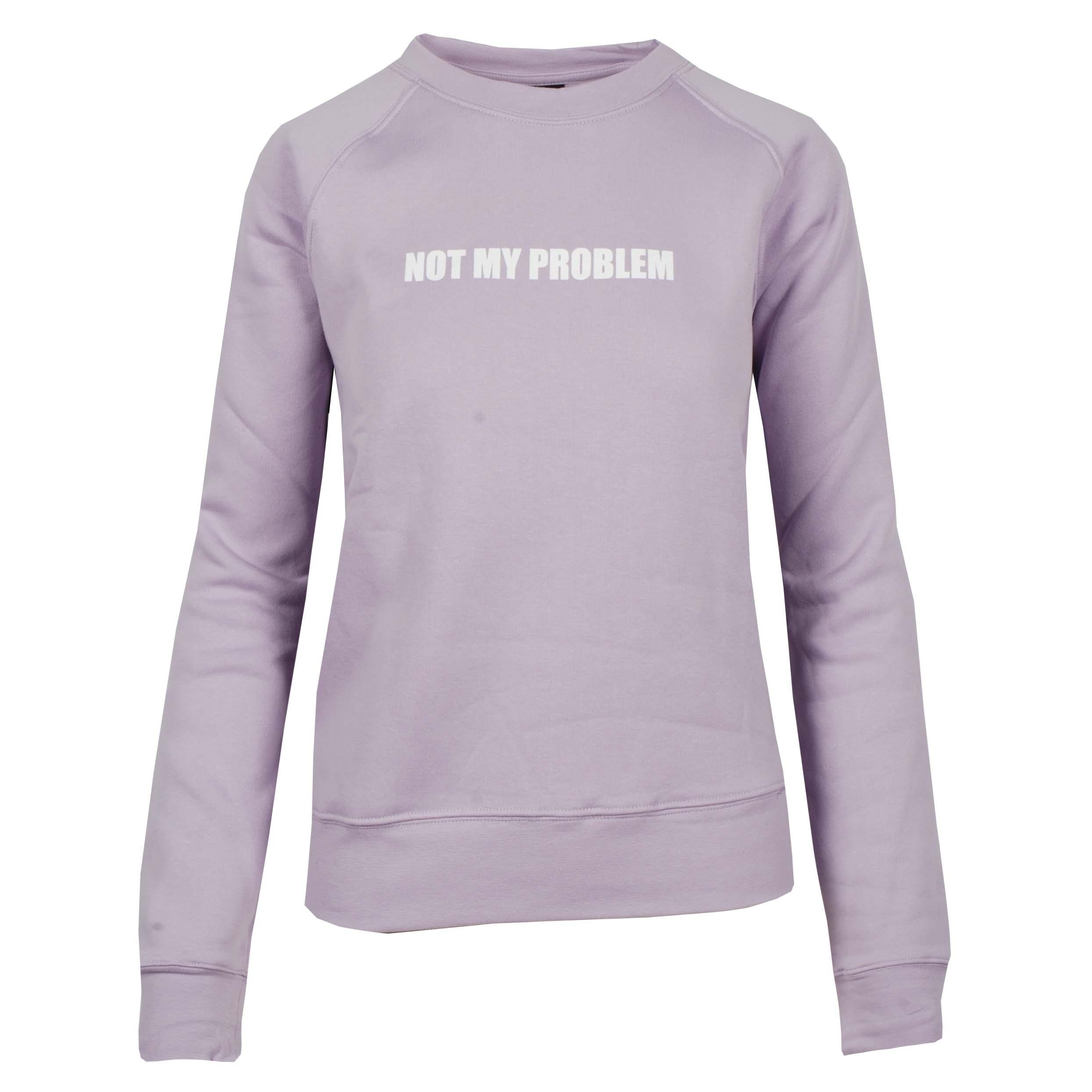Mondoni Not my problem sweater lila maat:l