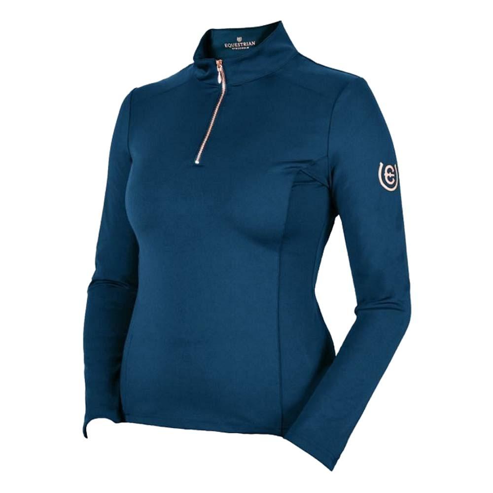 Equestrian Stockholm Techshirt blauw maat:l