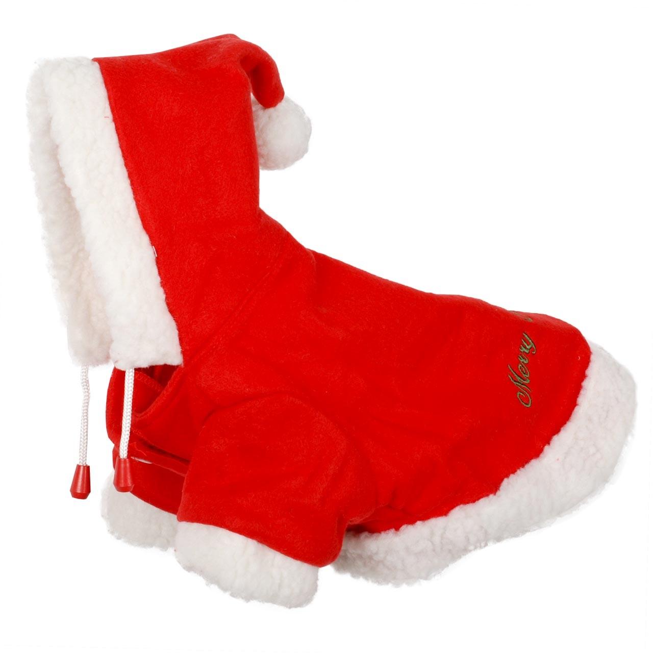 QHP Kerst Hondendeken rood maat:30