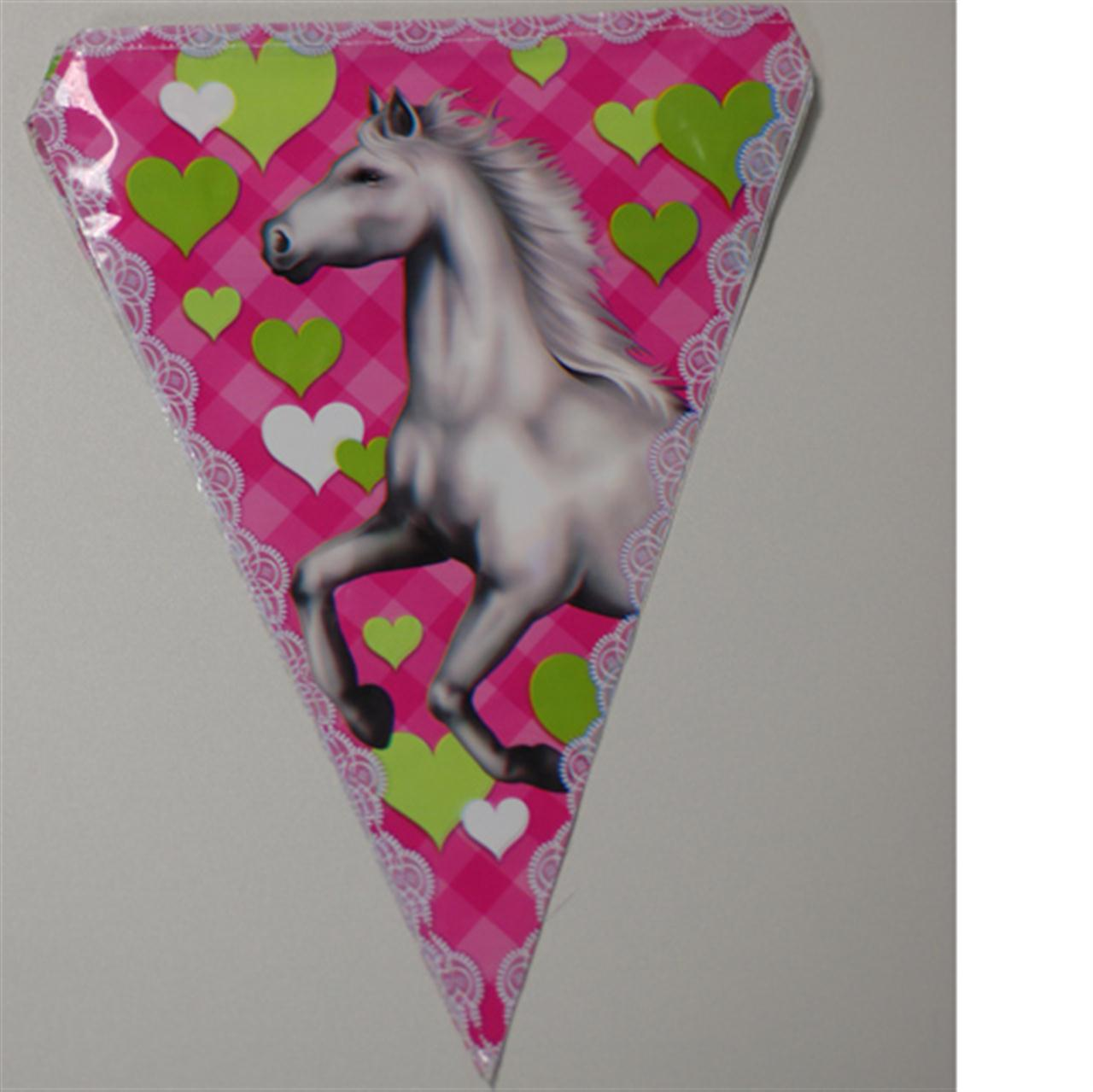 Feest vlaggenlijn met paarden