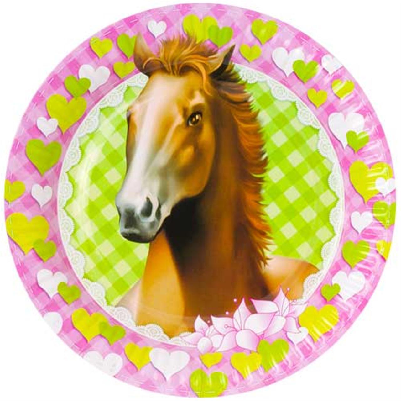 Feest borden met paarden