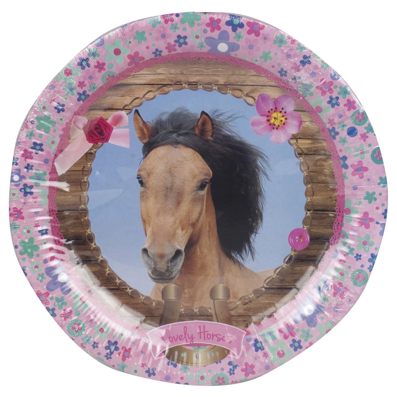 Feestbordjes Lovely Horses multi