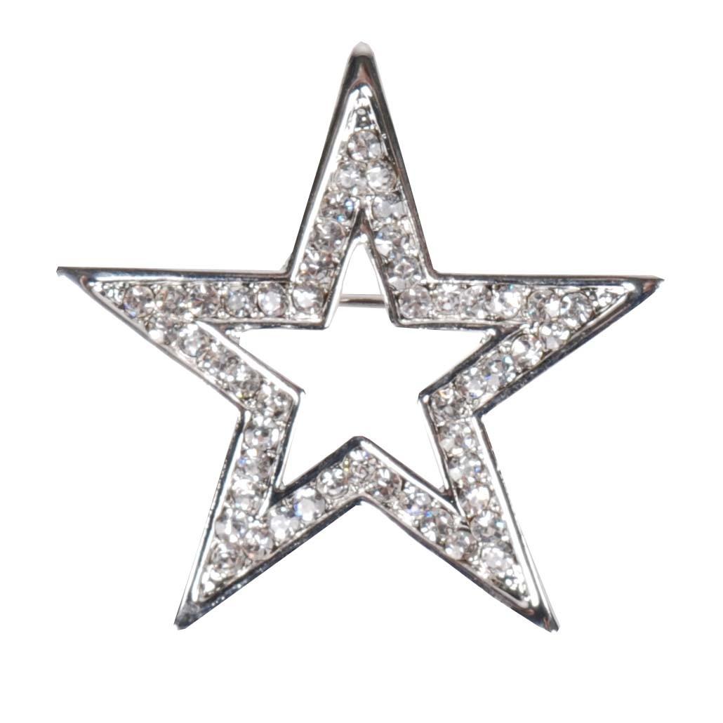 Harrys Horse Star plastronspeld zilver