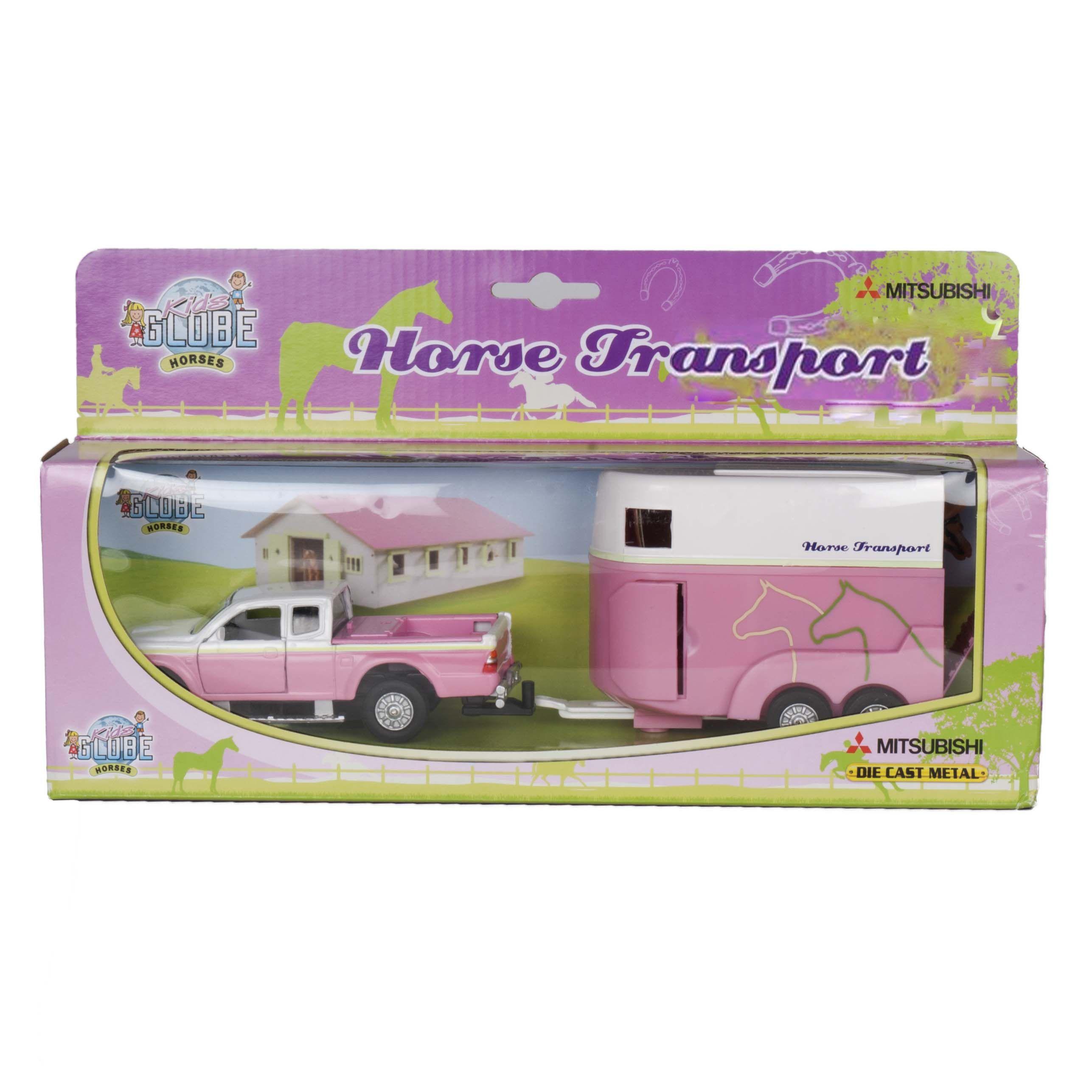 Horse Trailer speelset roze