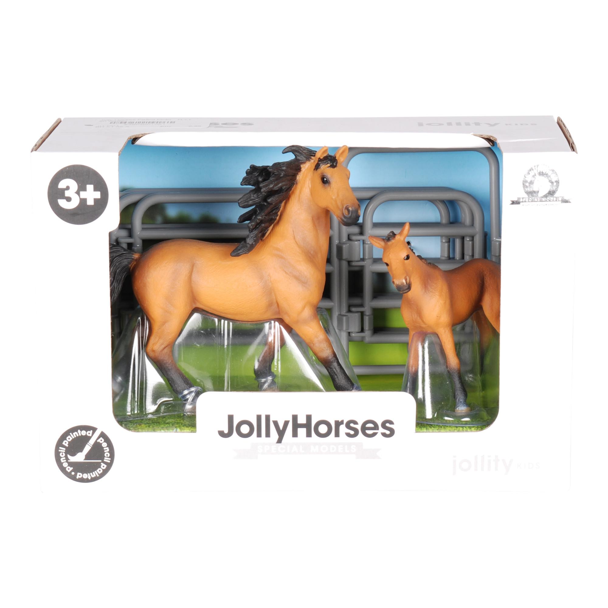 JollyHorses Pinto speelgoedpaard met veulen