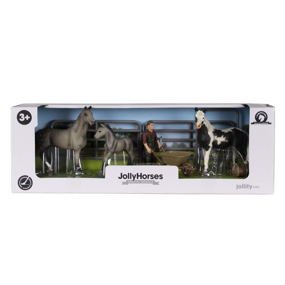 JollyHorses speelgoedpaarden met veulen