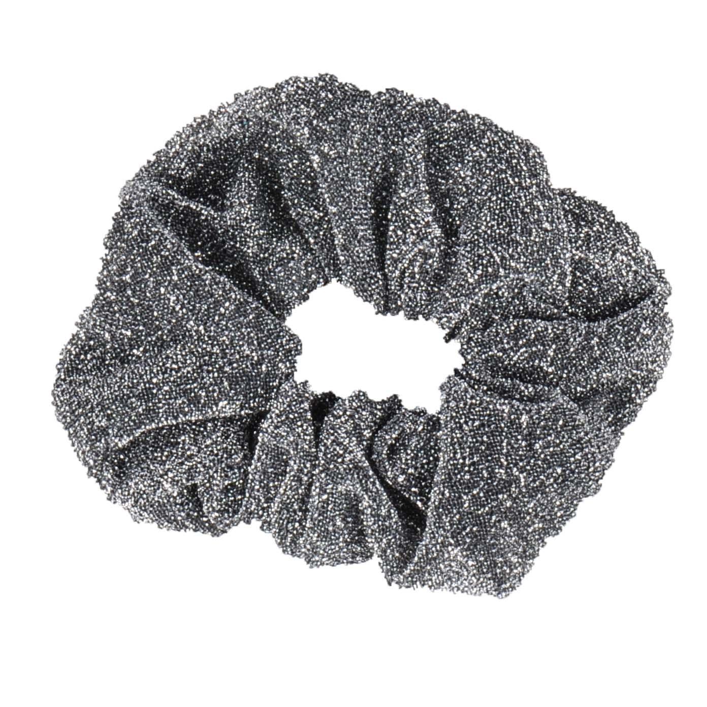 Mondoni Glitter Scrunchie zwart