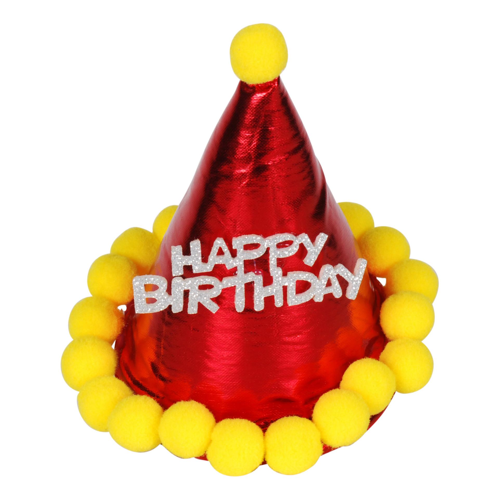 QHP Verjaardagshoedje paard rood