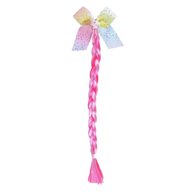 QHP Hair Extension Eenhoorn Twirly fuchsia maat:one size