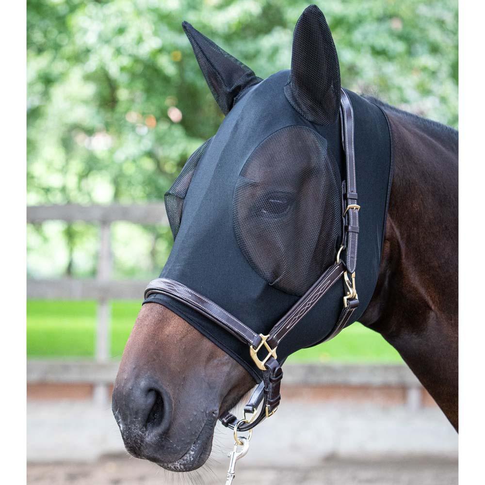 Harry's Horse Skinfit Vliegenmasker zwart maat:l