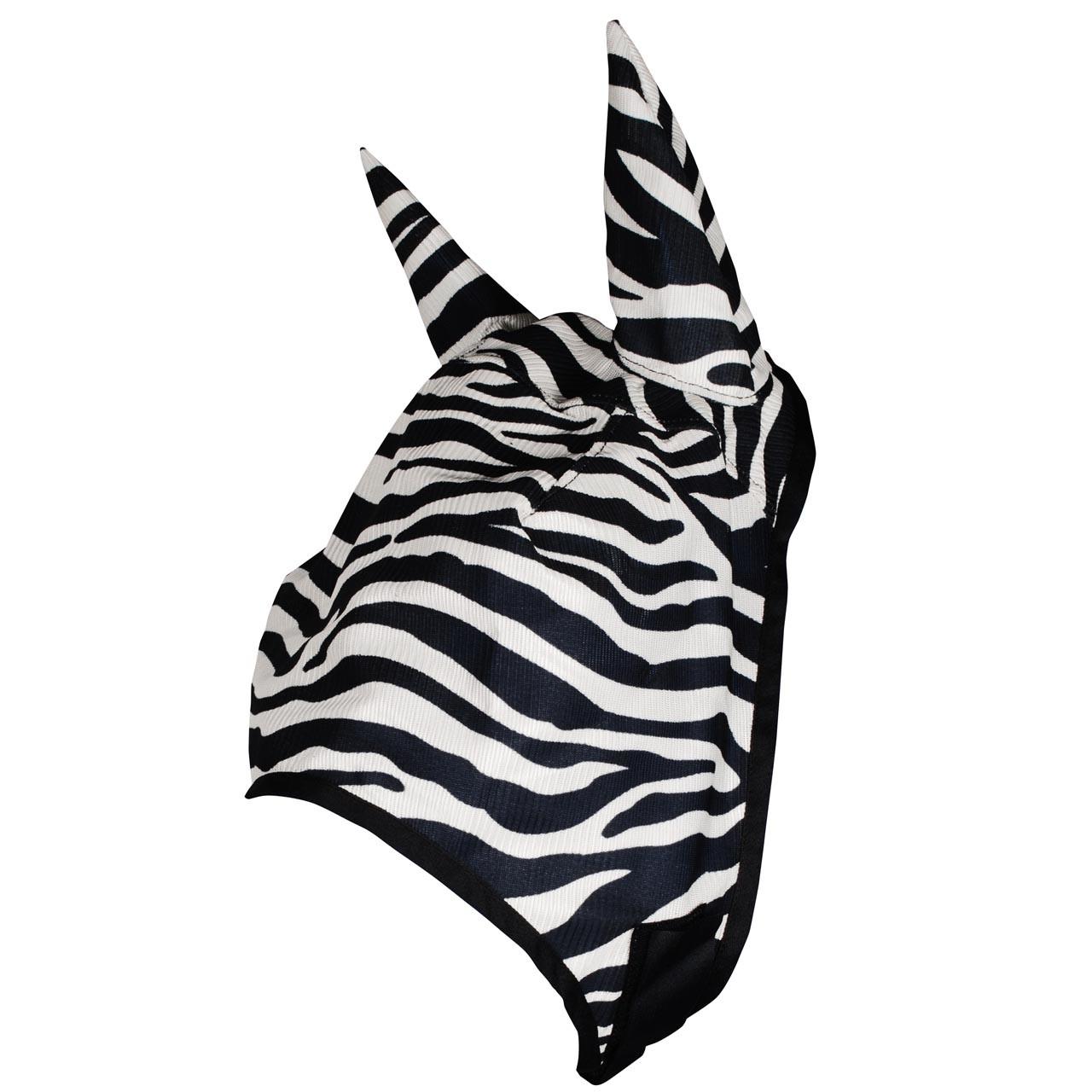 Pagony Zebra vliegenmasker zwart/wit maat:pony