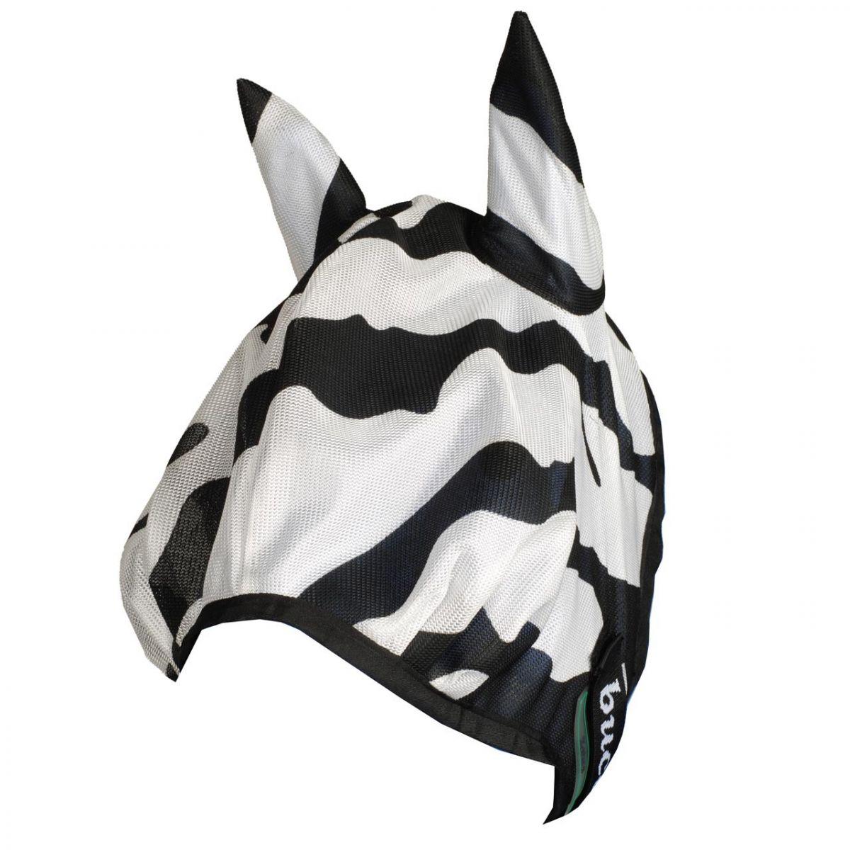 Bucas Buzzoff Zebra vliegenmasker zwart/wit maat:m