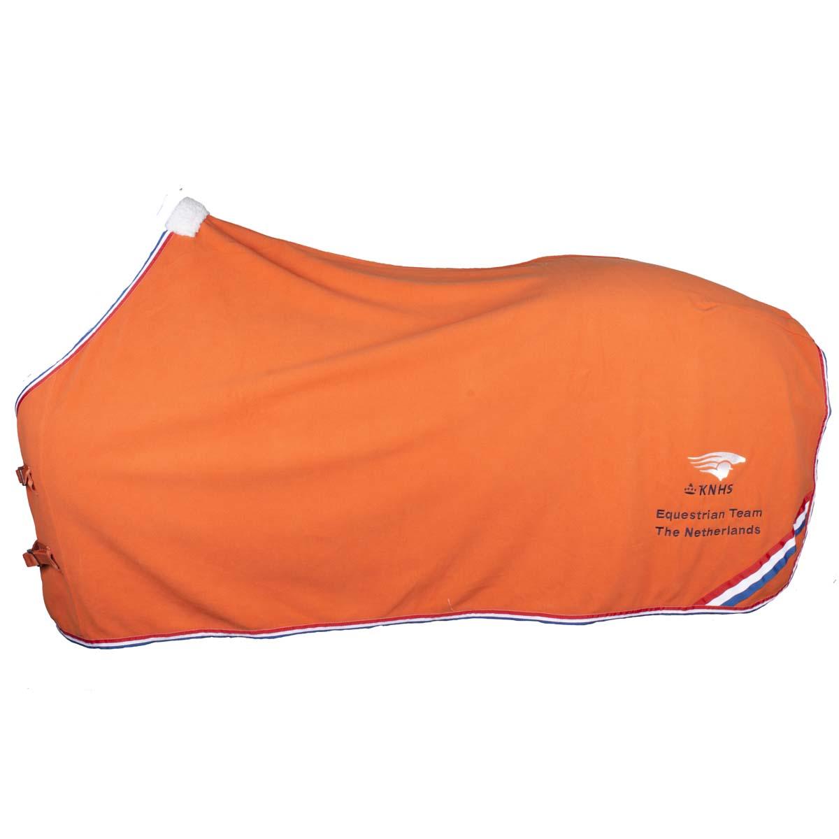 KNHS Team fleece deken oranje maat:205