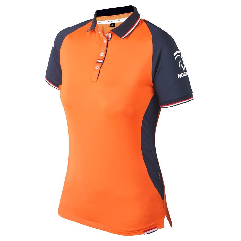 KNHS Fan D polo oranje maat:xxl