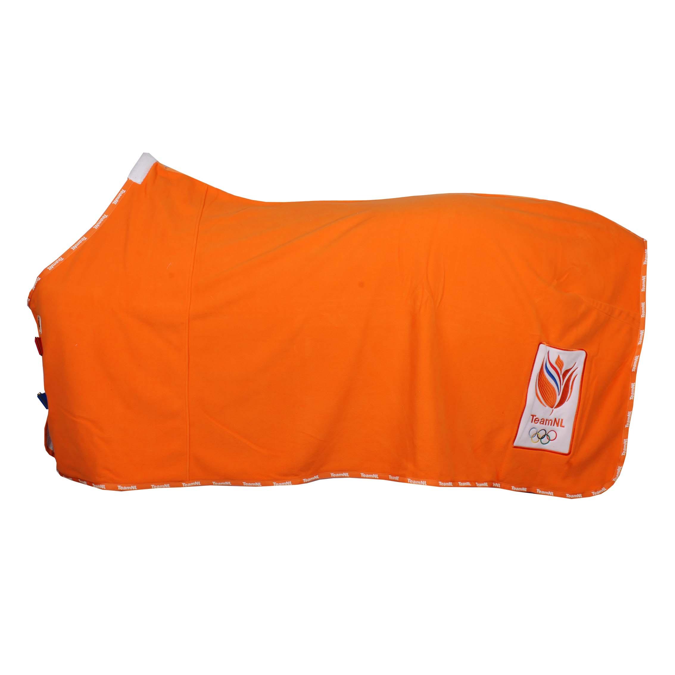 KNHS Olympic Fleecedeken ##1 oranje maat:205