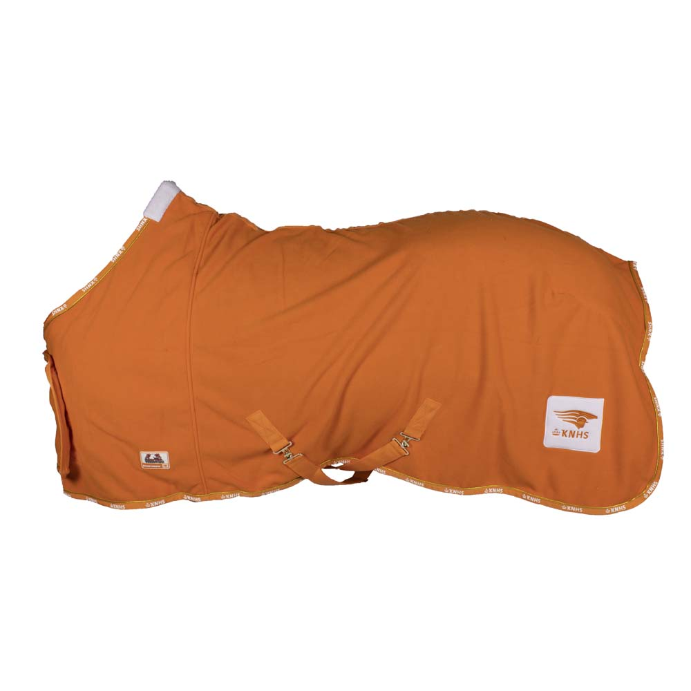 KNHS Hippiade fleecedeken oranje maat:155