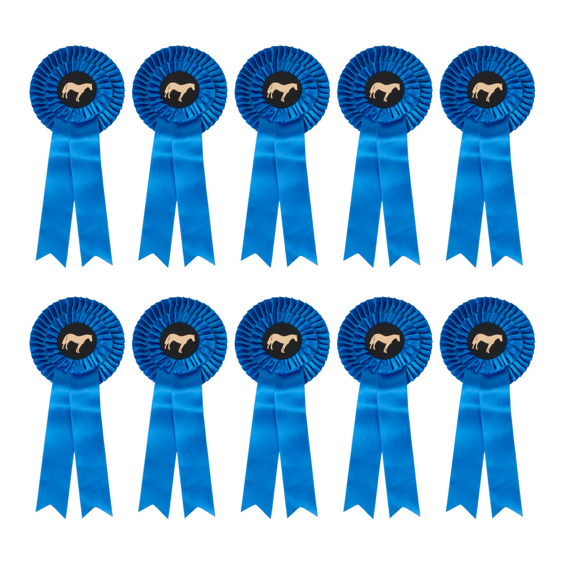 Rozetten (per 10 stuks) blauw